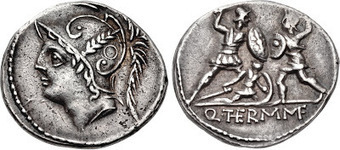 A Roman Coin Portraying a Soldier Shielding His Comrade | Roma Antiqua | Scoop.it
