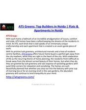 ATS Greens : 3 & 4 bhk Flats in Noida   Noida Real Estate   ATS Greens   Top Builders in Noida   Scoop.it