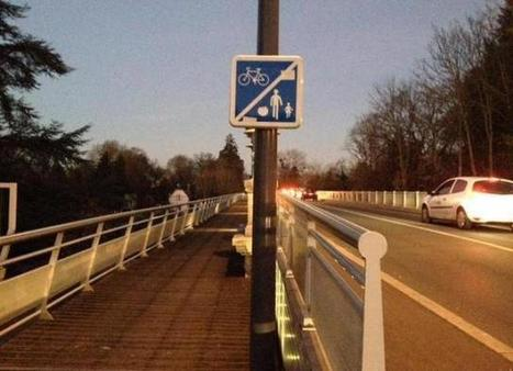 Traversée du pont à vélo : l'encorbellement fait réagir | Vélo dans l'agglo d'Orléans, et ailleurs | Scoop.it