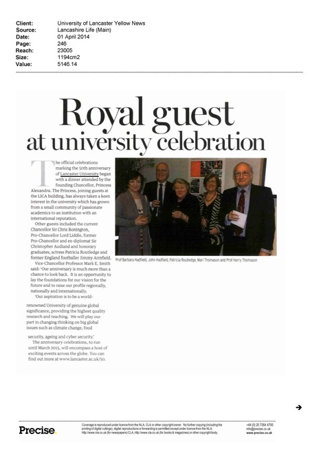 Lancashire Life 20,000 readers | Lancaster University 50th anniversary | Scoop.it