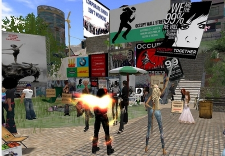 New World Notes: Occupy Wall Street Adds Second Life as a Protest Spot - And Why It's a Legitimate Place to Rally | #OccupyWallstreet | Scoop.it