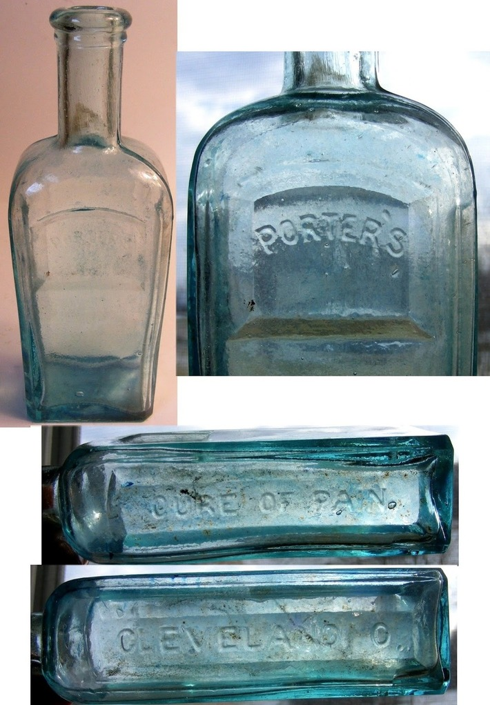 W.L. Porter's Pain Cure Story ~ Antique Medicine Bottles | Antiques & Vintage Collectibles | Scoop.it