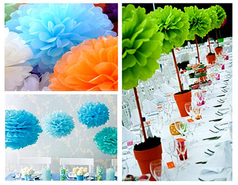 Where to find the tissue pompoms online at best prices? | wholesale paper umbrella | Scoop.it