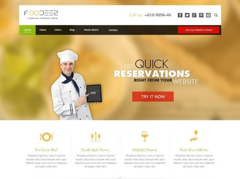 Foodeez – Multi Cuisine Restaurant WordPress Theme | Sketchthemes | Scoop.it