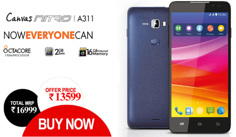 Micromax Canvas A 311 Nitro Blue Online @ attractive price in India | Online Shopping | Scoop.it