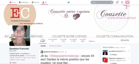 Communication et rédaction de contenus pour les business créatifs: {Réseaux sociaux} Activer son nouveau profil Twitter | Inspiration for creative crafty businesses | Scoop.it
