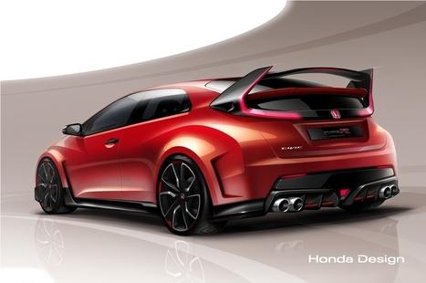 Honda Civic Type R Concept previewed ahead Geneva | MotorExposed.com | Car news | Scoop.it