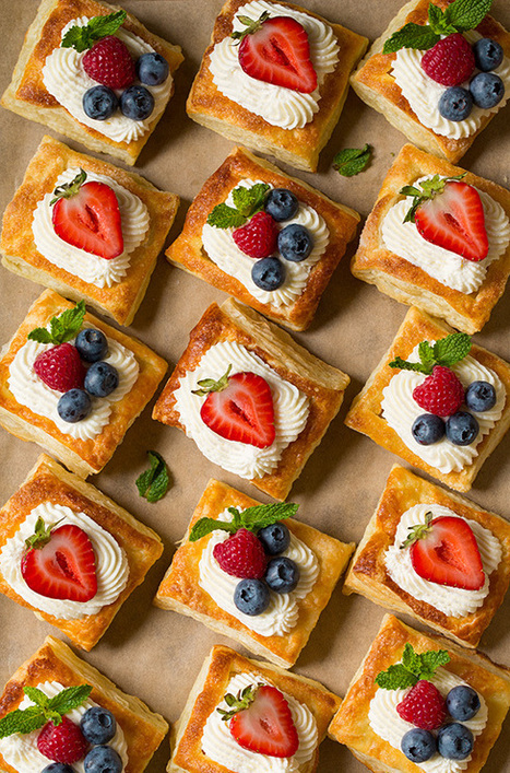 Puff Pastry Fruit Tarts with Ricotta Cream Filling | Passion for Cooking | Scoop.it