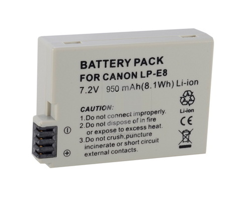 [US$6.99]LP-E8 Rechargeable Li-ion Battery for Canon 550D Rebel T2i | Electronics | Scoop.it