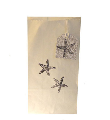 Starfish White Paper Bags Favor gift stamped bags thank you gifts | Fish: 21st Century Design Essentials | Scoop.it