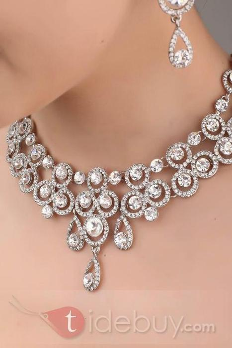 Bright Ring and Waterdrop Shaped Alloy and Rhinestone Necklace-HC | Bellaboy | Scoop.it