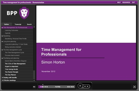 Time Management from BPP in Articulate Studio | E-Learning Examples | Scoop.it
