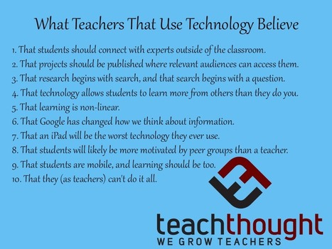 What Teachers That Use Technology Believe - | Cuppa | Scoop.it