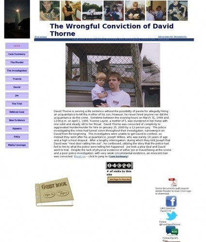 Quickboard • Free David Thorne Now   Stop Mass Incarceration and Wrongful Convictions   Scoop.it