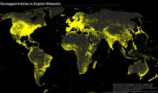 The world of Wikipedia's languages mapped   informational landscapes   Scoop.it