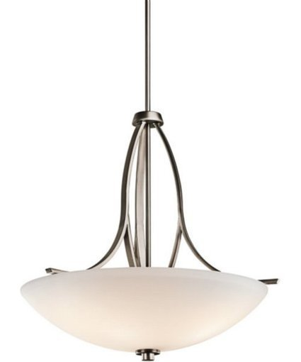 """Kichler 25""""w Granby 3-Light Inverted Pendant Brushed Pewter 