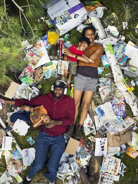 Revealing Photos of People Lying Down in a Week's Worth of Trash | ART  | Conceptual Photography & Fine Art | Scoop.it
