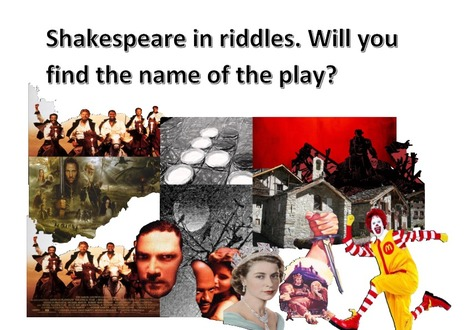 Shakespeare, plays and riddles... | What tool to use for your final project in ESL classes. | Scoop.it