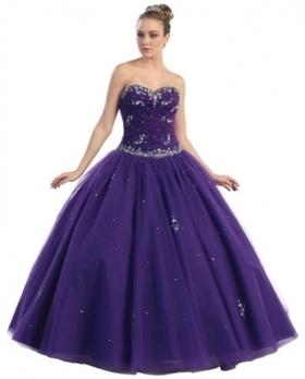 BallGown Sweetheart Tulle Floor-length Purple Beading Quinceanera Dress at sweetquinceaneradress.com | Quinceanera Dresses 2014 | Scoop.it