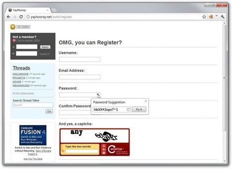 Un générateur de mots de passe sur Google Chrome - Le Journal du Geek   netnavig   Scoop.it