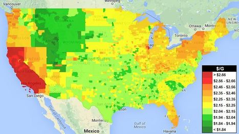 Gas Price Map | Geography Education | Scoop.it