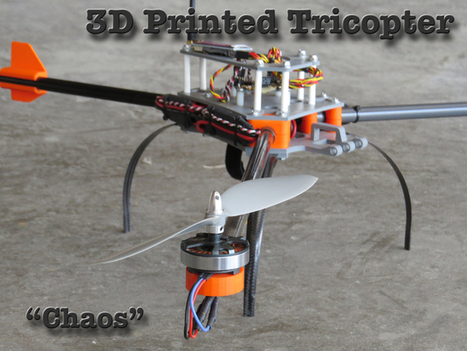 3D Printed Tricopter by MikeyB - Thingiverse | Arduino microcontroller | Scoop.it