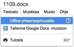 Näin editoit Office-dokumentteja Google Drivessa | Google Apps For Education | Scoop.it