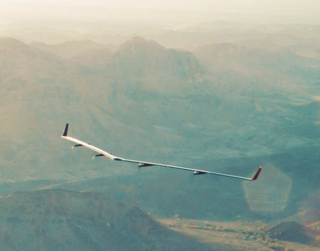 Facebook shares video from the first flight of its Aquila solar-powered internet drone | Solar Energy projects & Energy Efficiency | Scoop.it