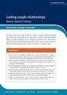 Lasting couple relationships: Recent research findings - Child Family Community Australia | Healthy Marriage Links and Clips | Scoop.it