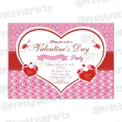 Valentines Day Party Invitations | Valentines Day Invitations - PrettyurParty | Pretty Ur Party | Scoop.it