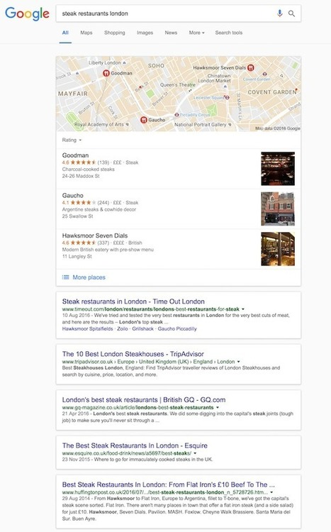 Google experiments with new desktop SERP layout | Search Engine Watch | Digital Marketing | Scoop.it