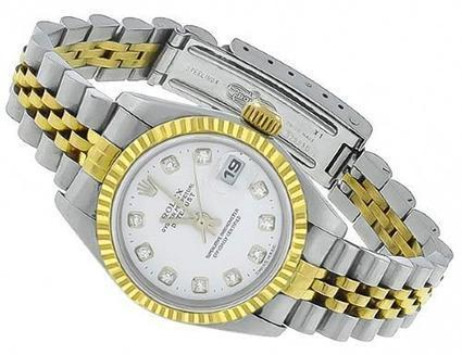 Beautiful Rolex Diamond Designer Lady's Steel & Gold Watch | Social Media Marketing | Scoop.it