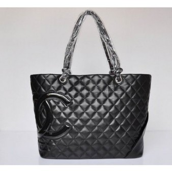 Chanel Cambon Bag 9005 Black Lambskin And Glazed CHANEL Logo Perfect present | Hot Chanel Bags Outlet Sale | Scoop.it