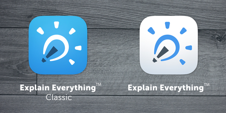 "New version 3.31 of Explain Everything ""Classic"" for iPad now available! 