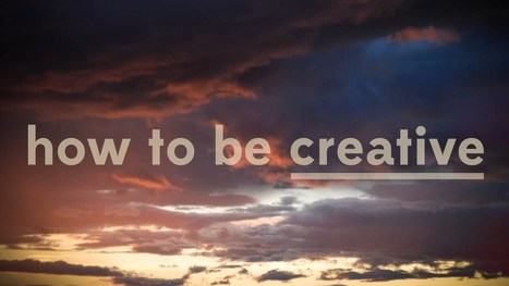 How To Be Creative: PBS' Off Book Series Explores the Secret Sauce of Great Ideas | Connecting the Dots | Scoop.it