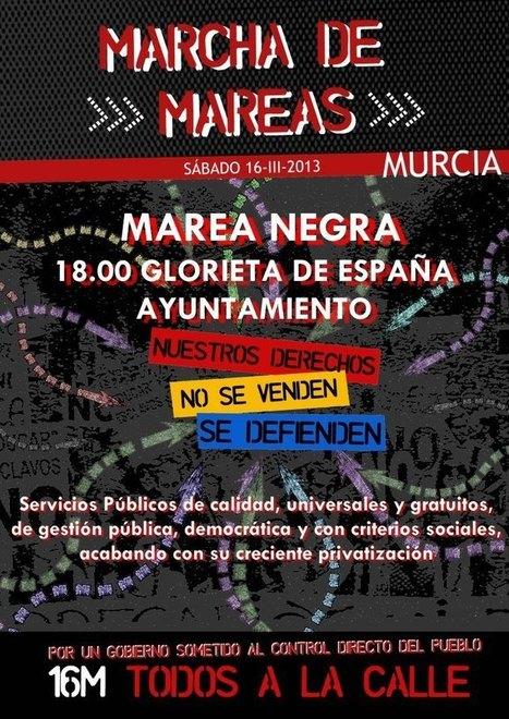 IndexMurcia y la Marea Amarilla en la Marcha de Mareas del próximo sábado #16M | Index Murcia | Scoop.it