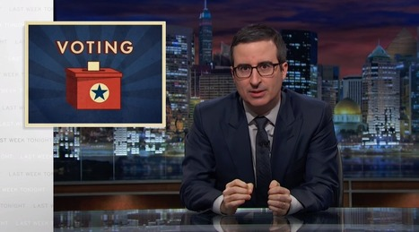 Watch: John Oliver's glorious takedown of voter ID laws | Election by Actual (Not Fictional) People | Scoop.it