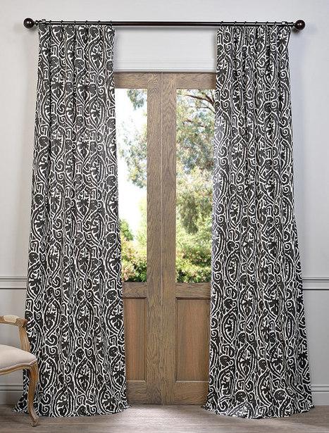 Zambia Ebony Printed Cotton Curtain | window curtains | Scoop.it