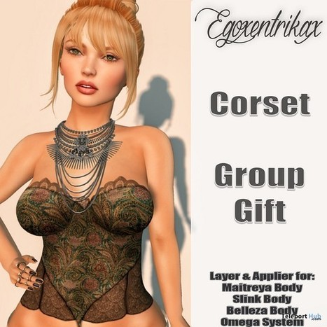 Corset With Mesh Body Appliers Group Gift by Egoxentrikax | Teleport Hub - Second Life Freebies | Second Life Freebies | Scoop.it