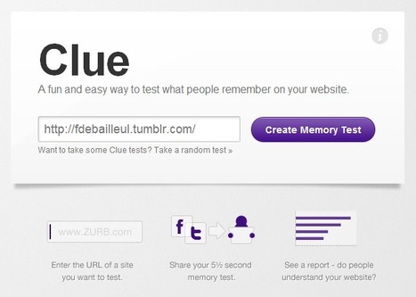 Clue – A fun and easy way to test what people remember on your website. | Time to Learn | Scoop.it