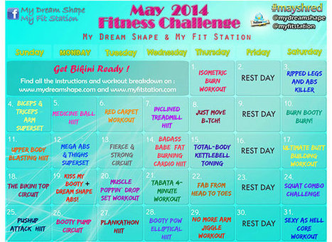 May Fitness Challenge and Workout Calendar - My Dream Shape! | Fitness | Scoop.it