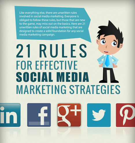 21 Rules For Effective Social Media Marketing Strategies[Infographic] | Top Internet Marketing Infographics - in my opinion | Scoop.it