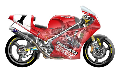 Silodrome - Classic World Superbike Cutaways |  Ducati.jpg | Ductalk Ducati News | Scoop.it