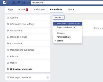 Comment bannir un fan de ma page Facebook | Astuces sur Facebbook | Scoop.it