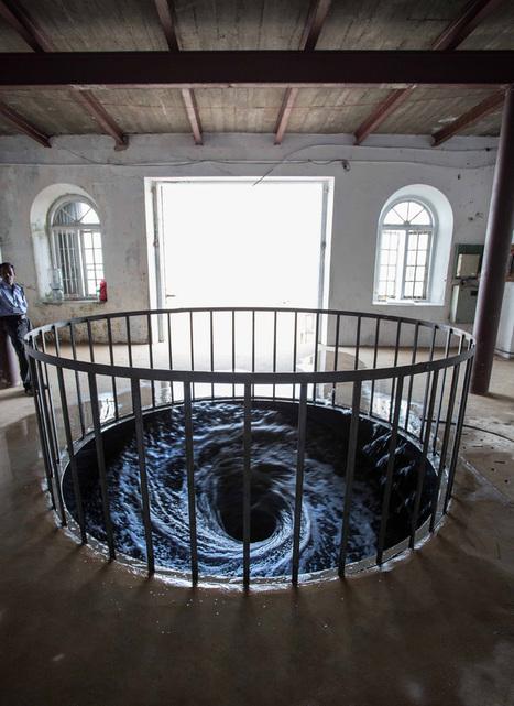 anish kapoor's black water vortex spins endlessly into gallery floor - designboom | architecture & design magazine | Creative Feeds | Scoop.it