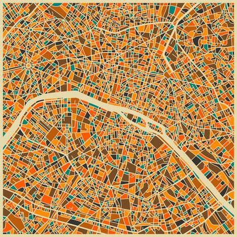 Et si les CARTES urbaines devenaient des œuvres d'art ? | URBANmedias | Scoop.it
