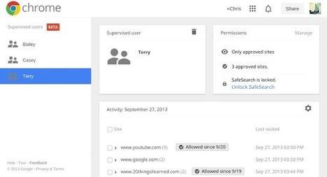 Le Contrôle parental Google Chrome   Communication - Marketing - Web   Scoop.it