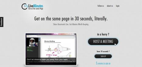LiveMinutes : Free Web Conferencing   Time to Learn   Scoop.it