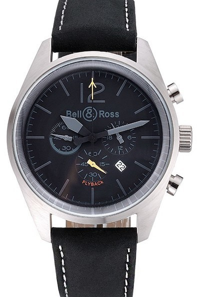 Replica Bell and Ross BR126 Flyback Black Dial Silver Case Black Suede Leather Strap-$199.00 | Men's & Women's Replica Watches Collection Online | Scoop.it