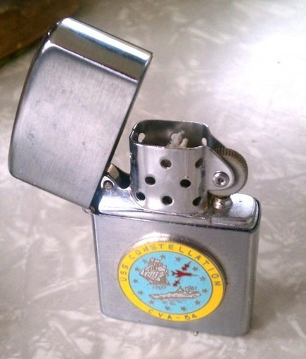 Vintage USS Constellation Lighter | Inherited Values | Antiques & Vintage Collectibles | Scoop.it